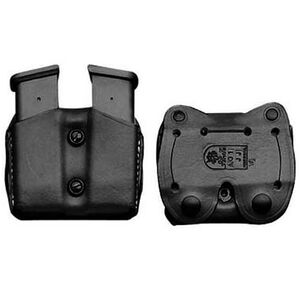 DeSantis Double Magazine Pouch Double Stack 9/40 Magazines Ambidextrous Leather Black A01BJGGZ0