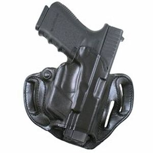 Desantis 002 Speed Scabbard Belt Holster For GLOCK 17/19/22/23 With CTC Lightguard Right Hand Leather Black 002BAX8Z0