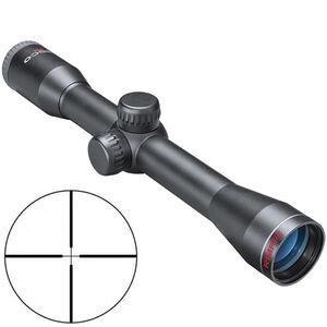 """Tasco 4x32mm Rimfire Riflescope with Rings 1"""" Tube Truplex Reticle .25 MOA Per Click Fixed Parallax Matte Black"""