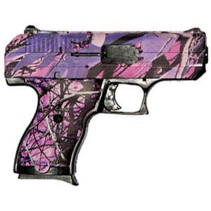"Hi-Point C-9 Semi-Auto Pistol, 9mm, 3.5"" Barrel, 8 Rounds, 3-Dot Sights, Polymer, Matte Pink Camo"