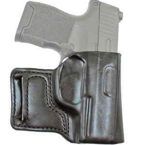 DeSantis E-Gat Slide Belt Holster Fits SIG P938/Kimber Micro 9mm Right Hand Leather Black