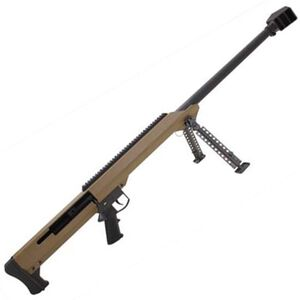 "Barrett Model 99 .50 BMG Single Shot Bolt Action Rifle 32"" Heavy Barrel Cerakote Flat Dark Earth Finish"