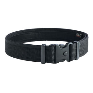 "Uncle Mike's Ultra Duty Belt 2"" Nylon Hook and Loop Liner Mirage Plain Medium 32"" to 36"" Black 70771"
