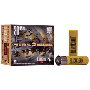 "Federal Premium Black Cloud TSS 20 Gauge Ammunition 10 Rounds 3"" 1oz. #9 Shot"