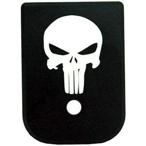 CruxOrd GLOCK Magazine Base Plate Punisher Aluminum Black
