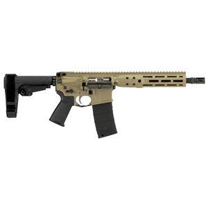 "LWRC IC DI AR-15 .300 AAC Blackout Semi Auto Pistol 10.5"" Barrel 30 Rounds M-LOK Free Float Rail System SB Tactical SBA3 Pistol Brace Flat Dark Earth Finish"