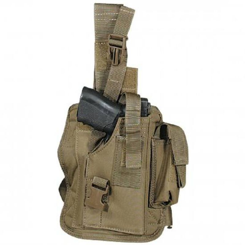 VooDoo Tactical Drop Leg Holster Nylon One Size Right Handed Coyote
