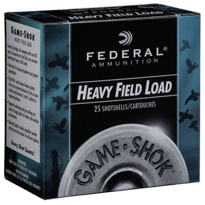 "Federal Game Shok Heavy Field Load 12 Gauge Ammunition 2-3/4"" #4 Lead Shot 1-1/8 Ounce 1255 fps"