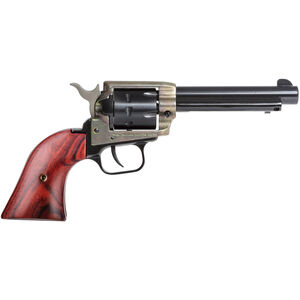 """Heritage Manufacturing Rough Rider .22 LR Single Action Army Rimfire Revolver 4.75"""" Barrel 9 Round Cocobolo Grips Case Hardened/Blued Finish"""