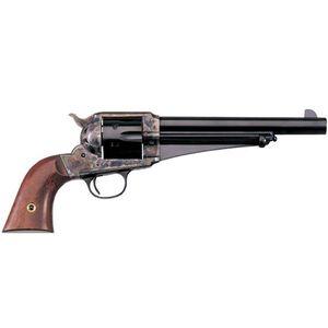 "Cimarron 1875 Outlaw Single Action Revolver .45 Long Colt 7.5"" Barrel 6 Rounds One Piece Walnut Grips Case Hardened Frame Blued CA151"