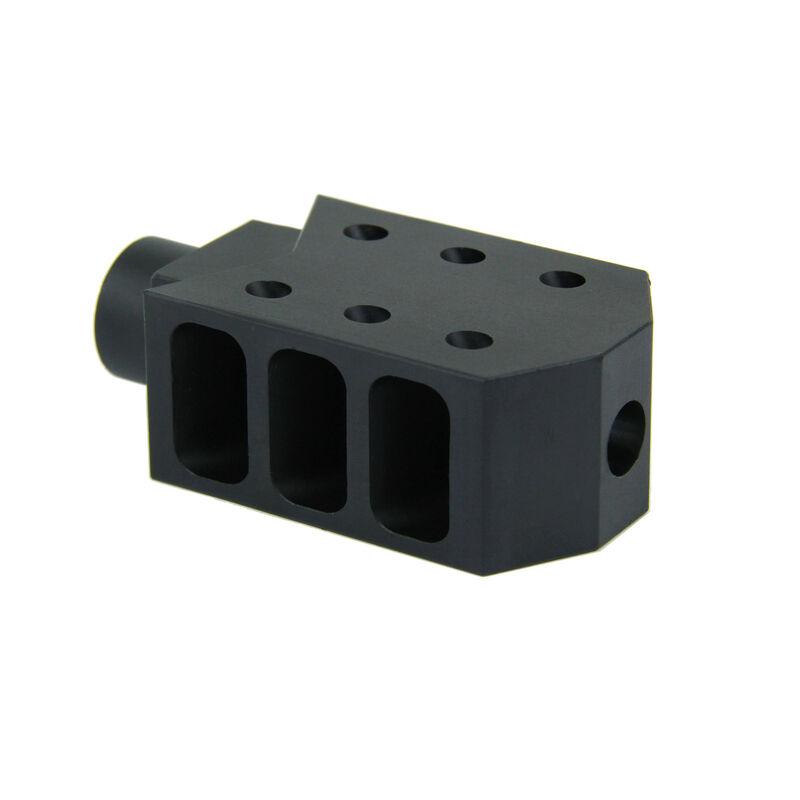 "TacFire .223/5.56 1/2""X28 50 Cal Style Muzzle Brake Aluminum Black MZ1013"