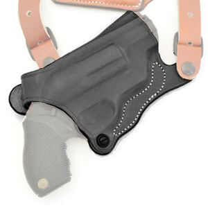 DeSantis S&W Governor Holster for New York Undercover Shoulder Rig, Right Hand, Black Leather