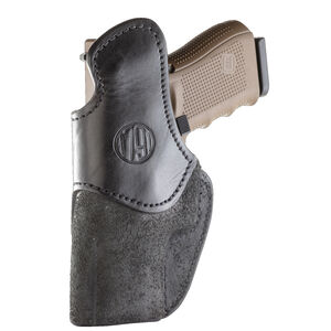 1791 Gunleather Rigid RCH-5 Multi-Fit IWB Concealment Holster for Compact Frames with Rails Semi Auto Pistols Right Hand Draw Leather Black