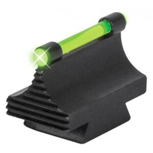 "TRUGLO Rifle Front Sight 3/8"" Dovetail .343"" Height Green Fiber Optic Steel Black TG95343RG"