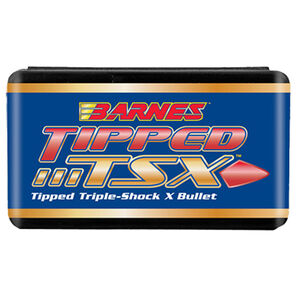 """Barnes Tipped Triple Shock X Lead Free .270 Caliber .277"""" Diameter 130 Grain Solid Copper Polymer Tip Boat Tail Projectile 50 Projectiles Per Box"""