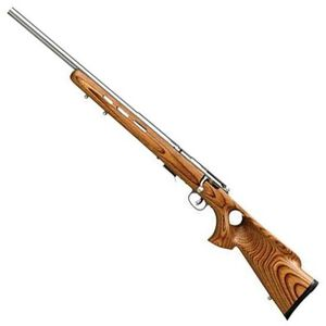 "Savage 17 Series Model 93R17-BTV Left Handed Bolt Action Rimfire Rifle .17 HMR 21"" Barrel 5 Rounds Brown Laminated Vented Thumbhole Stock Stainless Steel Barrel 96210"