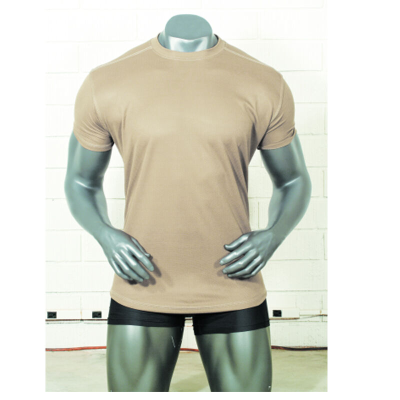 Voodoo Tactical Tee Shirt Polyester Microfiber Small Sand 20-996525092