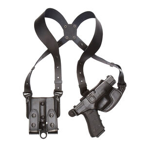 Aker Leather Model 101 Comfort Flex P220 Shoulder Holster Right Hand Leather Black
