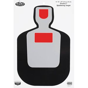 "Birchwood Casey Dirty Bird 12""x18"" BC-19 Silhouette Paper Target White Splatter Indoor/Outdoor Eight Pack 35717"