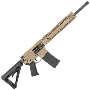 "Black Rain Ordnance Billet 5.56 NATO AR-15 Semi Auto Rifle 16"" Barrel 30 Rounds Free Float Hybrid Hand Guard Collapsible Stock Flat Dark Earth Finish"