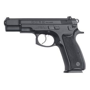 "CZ 75 BD Semi Auto Handgun 9mm Luger 4.6"" Barrel 16 Rounds Decocking Lever Polymer Grips Black Polycoat Finish 91130"