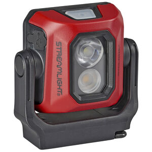 Streamlight Syclone Compact USB Rechargeable Multi-Function Work Light USB Charging Chord Water Resistant Hands-Free Magnetic Base Red
