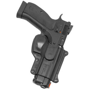 Fobus Holster CZ 75 SP-01,75B,75D/Canik 55 Right Hand Belt Attachment Polymer Black