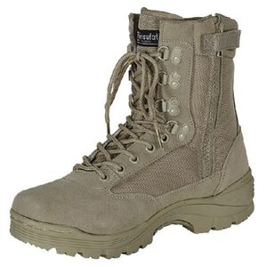 "Voodoo Tactical 9"" Tactical Boots Nylon/Leather Size 8.5 Regular Khaki Tan 04-837883085"