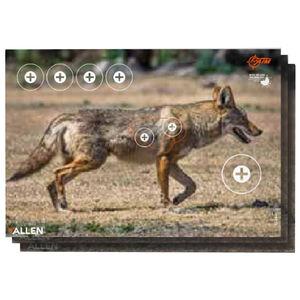 """Allen Company EZ Aim Paper Four Color Coyote Target 23""""x35"""" 2 Pack"""