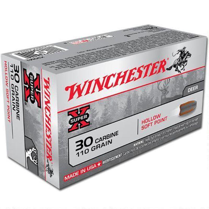 Winchester Super X .30 Carbine Ammunition 500 Rounds Hollow SP 110 Grains X30M1