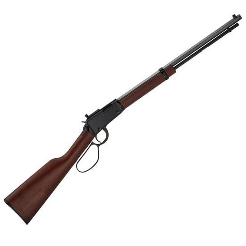 """Henry Small Game Lever Action Rifle .22 LR 20"""" Octagonal Barrel Peep Sight Walnut Stock Blued H001TRP"""