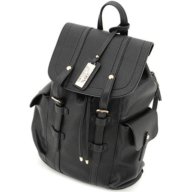 "Cameleon Equinox Backpack Style Handbag with Concealed Carry Gun Compartment 13.5""x16.5""x5.5"" Synthetic Leather Black"