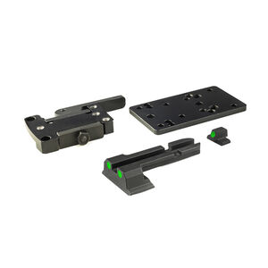 Meprolight MicroRDS Glock Quick Detach Adapter and Backup Sights Black ML881500