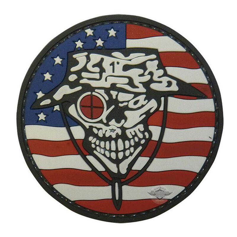 Tru-Spec PVC Sniper Morale Patch 2 Inches Red/White/Blue/Black 6789000