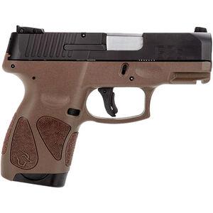 "Taurus G2S Slim .40S&W Semi Auto Pistol 3.2"" Barrel 6 Rounds 3 Dot Sights Matte Black Slide/Brown Frame"