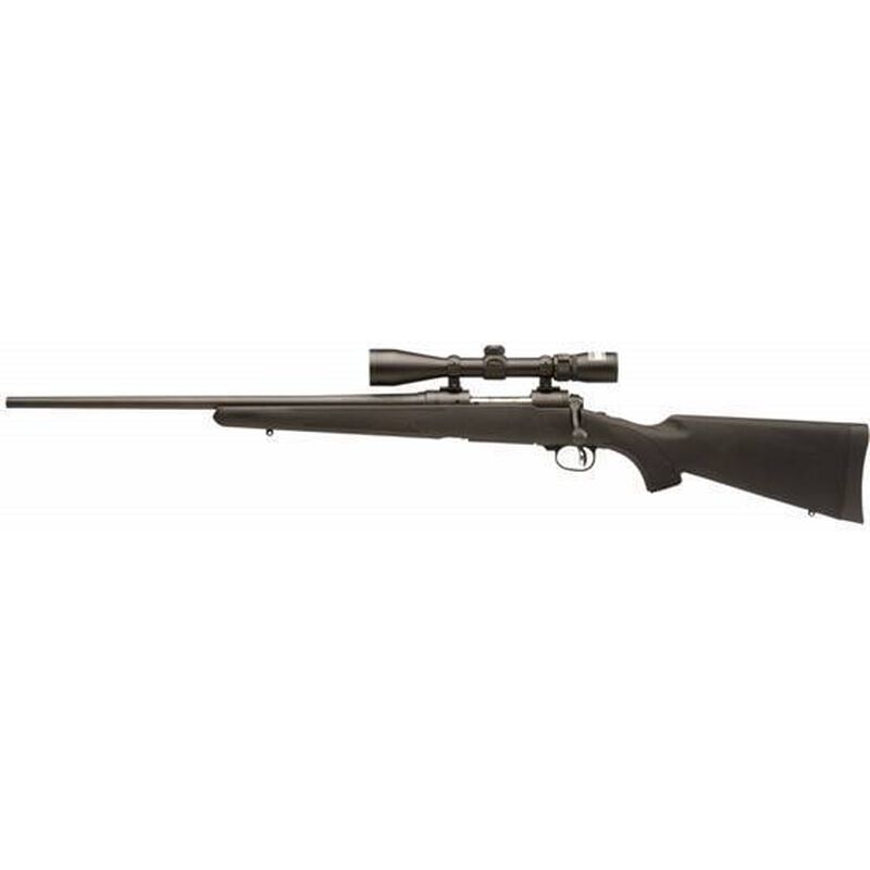 """Savage Model 11 Trophy Hunter XP Left Hand Bolt Action Rifle 7mm Rem Mag 24"""" Barrel Length 4 Rounds AccuTrigger Black Synthetic Stock Matte Finish Nikon 3-9x40 Scope 19700"""