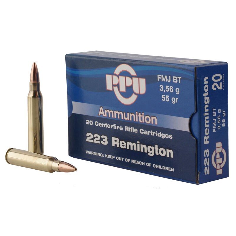 Prvi Partizan PPU  223 Rem Ammunition 55 Grain SP 3240 fps