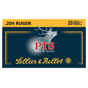 Sellier & Bellot .204 Ruger Ammunition 20 Rounds 32 Grain Polymer Tip Spitzer Projectile 4,127fps