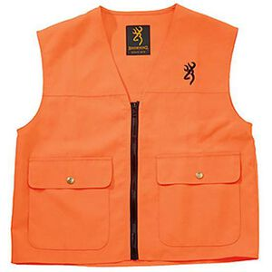 Browning Junior Safety Vest with Buckmark Logo Blaze Orange X-Large