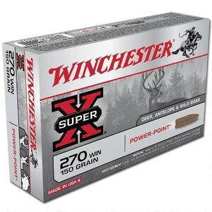 Winchester Super X .270 Win Ammunition 200 Rounds, PP, 150 Grains