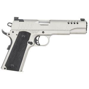 "Auto Ordnance 1911-A1 .45 ACP Semi Auto Pistol 5"" barrel 7 Rounds Night Sights Rubber Grips Steel Frame/Slide Savage Silver Cerakote Finish"