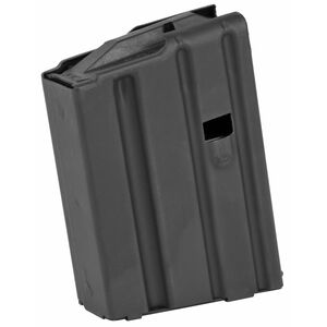 ASC AR-15 Magazine .223 Remington 5 Rounds Blue Polymer Follower Stainless Steel Body Matte Black Finish