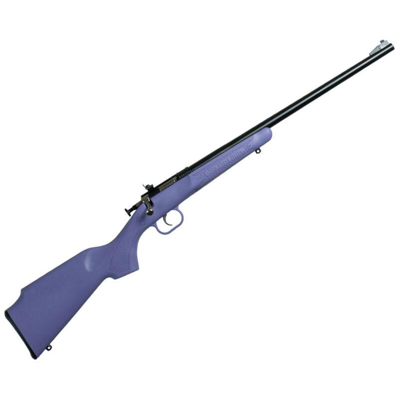 "Keystone Arms Crickett Single Shot Bolt Action Rimfire Rifle .22 LR 16.125"" Barrel Beach Purple Polymer Stock Blued Barrel"