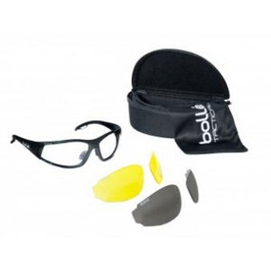 Bolle Rogue Tactical Glasses Kit Clear/Smoke/Yellow Lens Black Frame 40136