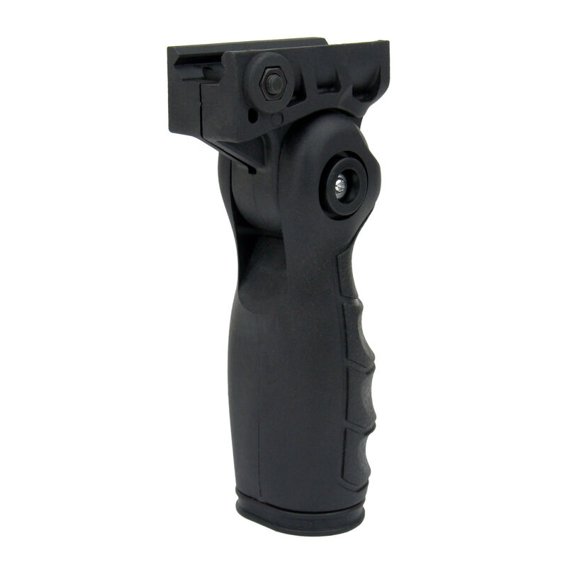 TacFire Five Position Foldable Locking Foregrip with Storage Black VG07-B