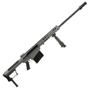 "Barrett M107A1 Semi Auto Rifle .50 BMG 29"" Fluted Barrel 10 Rounds Suppressor Ready Muzzle Brake 23"" Integrated Rail with 27 MOA Elevation Tungsten Grey Cerakote Receiver"