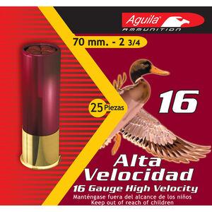 """Aguila High Velocity Field 16 Gauge Ammunition 2-3/4"""" Length #7.5 Lead Shot 1 Ounce 1200fps"""