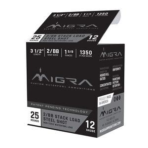 """Migra Ammunition 12 Gauge 3-1/2"""" #2/BB Steel Shot 1-5/8 oz 1350 fps"""
