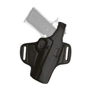Tagua Gunleather Thumb Break Belt Holster S&W M&P 9mm OWB Belt Slide Holster Right Hand Plain Black BH1-1000