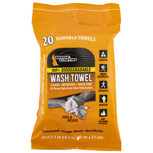"""Dead Down Wind Base Camp Wash Towels Textured/Biodegradable 7.1"""" X 8.3"""" 20 Per Package"""